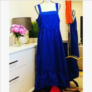 Who What Wear Blue Maxi Dress Size XL